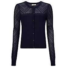 Buy Somerset by Alice Temperley Ponte Cardigan, Navy Online at johnlewis.com