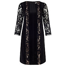 Buy Somerset by Alice Temperley Lace Insert Silk Dress, Black Online at johnlewis.com