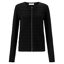 Buy COLLECTION by John Lewis Ripple Stitch Cardigan, Black Online at johnlewis.com