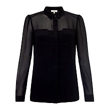Buy Somerset by Alice Temperley Two Pocket Shirt, Black Online at johnlewis.com