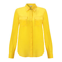Buy COLLECTION by John Lewis Silk Blouse, Yellow Online at johnlewis.com