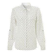 Buy COLLECTION by John Lewis Silk Spot Pocket Blouse, Cream Online at johnlewis.com