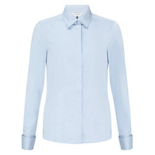 Buy COLLECTION by John Lewis Stretch Cotton Blouse, Aqua Online at johnlewis.com