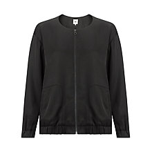 Buy Kin by John Lewis Long Sleeved Bomber Jacket, Black Online at johnlewis.com