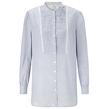 Buy Somerset by Alice Temperley Stripe Cotton Blouse, Blue Online at johnlewis.com