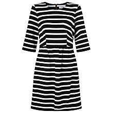 Buy COLLECTION by John Lewis Stripe Ponte Dress, Black/White Online at johnlewis.com