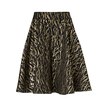 Buy Somerset By Alice Temperley Animal Jacquard Skirt, Black/Gold Online at johnlewis.com