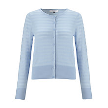 Buy COLLECTION by John Lewis Stripe Cotton Cardigan, Pale Blue Online at johnlewis.com