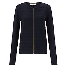 Buy COLLECTION by John Lewis Ripple Stitch Cardigan, Navy Online at johnlewis.com