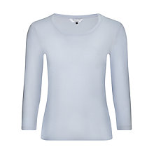 Buy COLLECTION by John Lewis Scoop Neck Top, Pale Blue Online at johnlewis.com