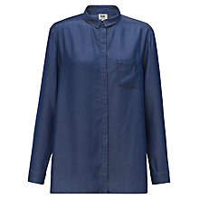 Buy Kin by John Lewis Tencel Chambray Shirt, Indigo Online at johnlewis.com