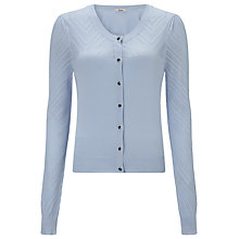 Buy Somerset by Alice Temperley Ponte Cardigan, Blue Online at johnlewis.com