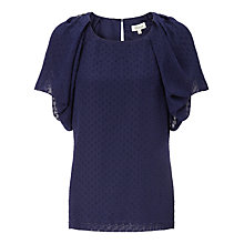Buy Somerset by Alice Temperley Spot Pointelle Blouse, Blue Online at johnlewis.com