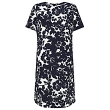 Buy John Lewis Capsule Collection Print Pop Linen Dress, Navy/White Online at johnlewis.com