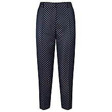 Buy Somerset by Alice Temperley Jacquard Boat Print Trousers, Navy/Cream Online at johnlewis.com