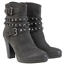 Buy Mint Velvet Thea Studded Leather Ankle Boots, Charcoal Online at johnlewis.com