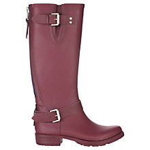 Buy Jigsaw Tall Rubber Wellington Boots, Burgundy Online at johnlewis.com