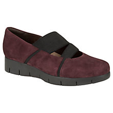 Buy Clarks Daelyn Villa Suede Flatform Shoes, Burgandy Online at johnlewis.com