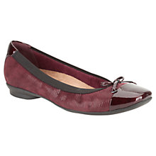 Buy Clarks Candra Glow Suede Ballerina Pumps Online at johnlewis.com