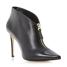 Buy Dune Asia Leather High Vamp Stiletto Heel Ankle Boots Online at johnlewis.com
