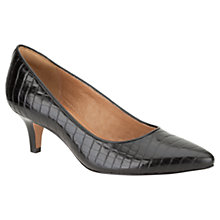 Buy Clarks Estate Copper Leather Kitten Heel Pointed Toe Court Shoes Online at johnlewis.com