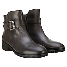 Buy Mint Velvet Ivy Leather Ankle Boots, Smoke Grey Online at johnlewis.com