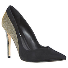 Buy Dune Brittany Contrast Suede Pointed Court Shoes, Black Online at johnlewis.com
