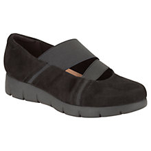 Buy Clarks Daelyn Villa Suede Flatform Shoes, Black Online at johnlewis.com