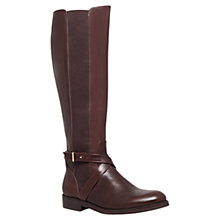 Buy Kurt Geiger Estelle Knee Leather Boots, Dark Brown Online at johnlewis.com