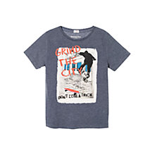 Buy Mango Kids Boys' Skater T-Shirt, Blue Online at johnlewis.com