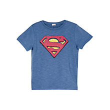 Buy Mango Kids Boys' Superman Superhero T-Shirt, Blue Online at johnlewis.com