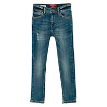 Buy Mango Kids Boys' Skinny Vintage Wash Denim Jeans Online at johnlewis.com