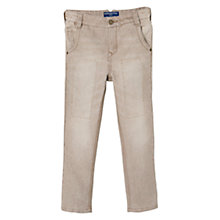Buy Mango Kids Boys' Stitch Detail Jeans, Light Beige Online at johnlewis.com