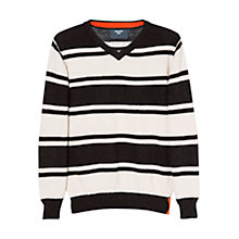 Buy Mango Kids Boys' Stripe Merino Blend V-Neck Jumper Online at johnlewis.com