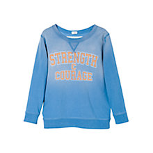 Buy Mango Kids  Boys' Strength & Courage Long Sleeve T-Shirt, Blue Online at johnlewis.com