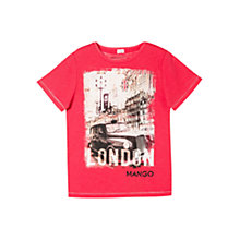 Buy Mango Kids Boys' London T-Shirt, Red Online at johnlewis.com