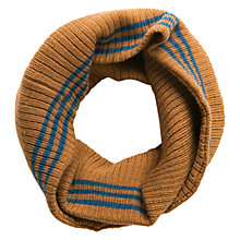 Buy Mango Kids Boys' Striped Snood, Tan/Blue Online at johnlewis.com
