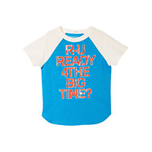 Buy Mango Kids Boys' Raglan Slogan T-Shirt Online at johnlewis.com