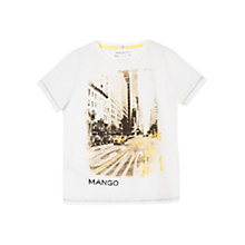 Buy Mango Kids Boys' City T-Shirt, White Online at johnlewis.com