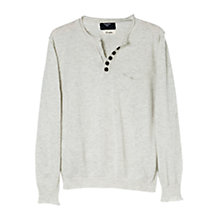 Buy Mango Kids Boys' Long Sleeve Jumper, Light Grey Online at johnlewis.com