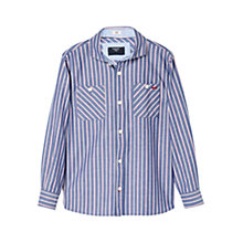 Buy Mango Kids Boys' Stripe Cotton Shirt, Blue Online at johnlewis.com