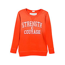 Buy Mango Kids Boys' Strength & Courage Long Sleeve T-Shirt, Orange Online at johnlewis.com