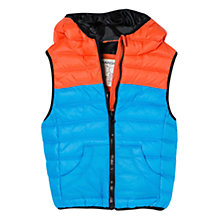 Buy Mango Kids Boys' Tri-Colour Water Repellent Gilet Online at johnlewis.com