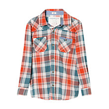 Buy Mango Kids Check Cotton Shirt, Red/Blue Online at johnlewis.com