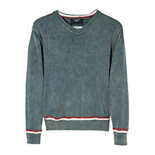 Buy Mango Kids Boys' Washed Stripe Edge Jumper Online at johnlewis.com