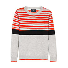Buy Mango Kids Boys' Half-Stripe Jumper Online at johnlewis.com