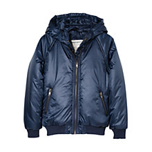 Buy Mango Kids Boys' Padded Detachable Hood Coat Navy Online at johnlewis.com