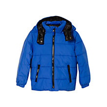 Buy Mango Kids Boys' Detachable Hood Coat Online at johnlewis.com