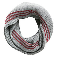 Buy Mango Kids Boys' Striped Snood, Grey/Red Online at johnlewis.com