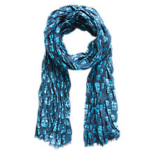 Buy Mango Kids Skull Scarf, One Size, Blue Online at johnlewis.com